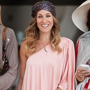 Sarah Jessica Parker usando o turbante (Imagem meramente ilustrativa retirada do site Bolsa de Mulher)