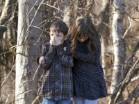 Crianças assustadas - massacre Connecticut (EUA)