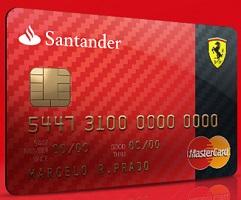 www.santander.com.br/cartaoferrari, Cartão Ferrari Santander