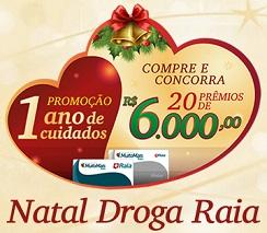 www.drogaraia1anodecuidados.com.br, Promoção Natal Droga Raia 2013