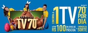 www.extra.com.br/pascoa2014, Promoção TV 70 Páscoa Extra 2014