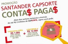 www.santander.com.br/promocaosantandercap, Promoção Santander CapSorte Conta Paga